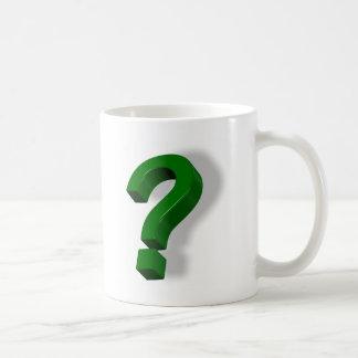 question mark symbol coffee mug