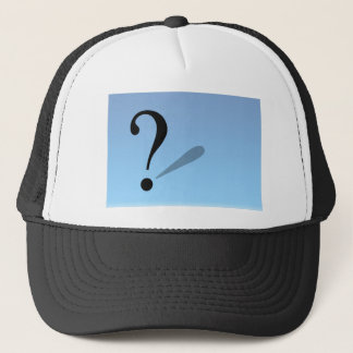 question-mark- trucker hat