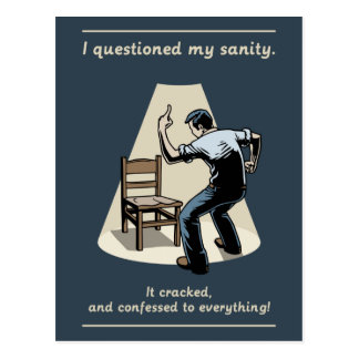 Question Sanity Postcard