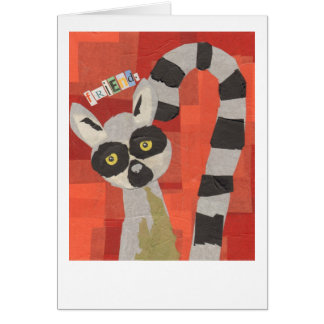 Questionable Lemur Card