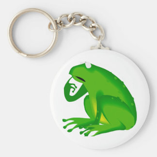 questioning frog keychain
