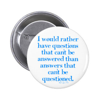 Questions and Answers 2 Inch Round Button