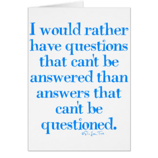 Questions and Answers Greeting Card
