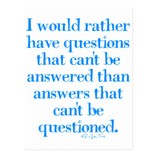 Questions and Answers Postcard