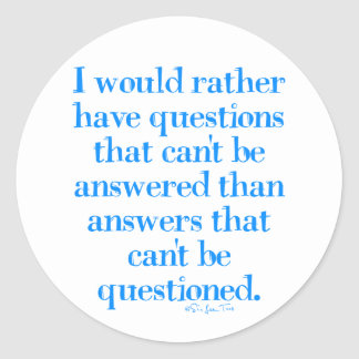 Questions and Answers Round Sticker