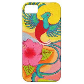Quetzal Bird And Hibiscus iPhone 5 Case