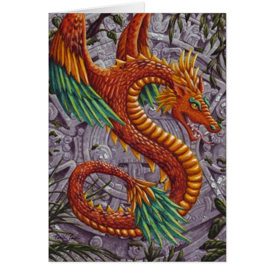 Quetzalcoatl-notecard Card