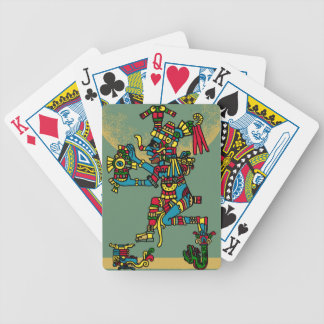 Quetzalcoatl. Tribal Aztec Bicycle Playing Cards