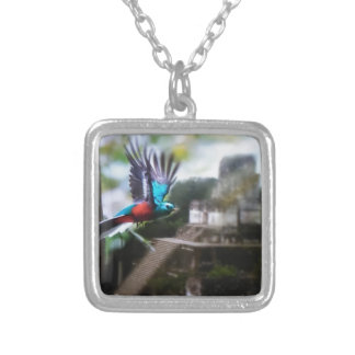 Quetzel in Tikal Silver Plated Necklace
