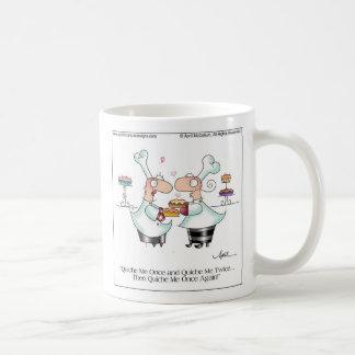 QUICHE ME! Large Mug by April McCallum