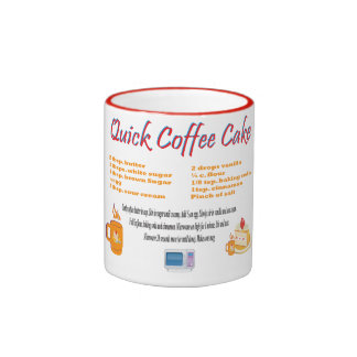 Quick Coffee Cake Ringer Coffee Mug