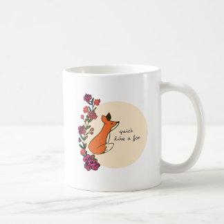 Quick like a fox coffee mug