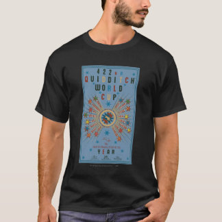 QUIDDITCH™ World Cup Blue Poster T-Shirt