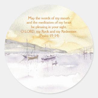 'Quiet Anchorage (Christian)' Sticker