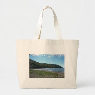 Quiet Beach Large Tote Bag