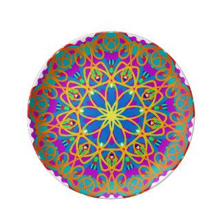 Quiet Brilliance Mandala Porcelain Plate