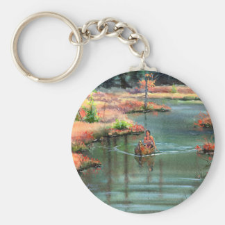 QUIET CANOE by SHARON SHARPE Keychain