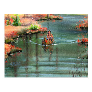 QUIET CANOE by SHARON SHARPE Postcard
