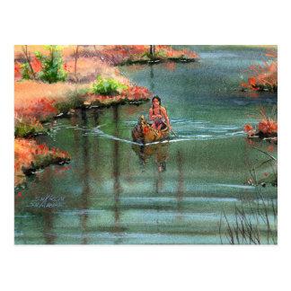 QUIET CANOE by SHARON SHARPE Postcard