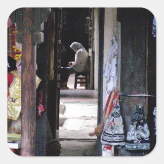 'Quiet corridor' Shanghai Square Sticker