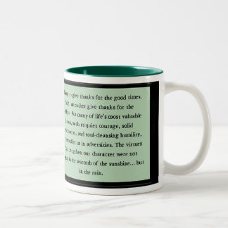 Quiet Courage Inspirational Verse Two-Tone Coffee Mug