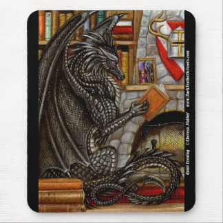 Quiet Evening Reading Dragon Mousepad