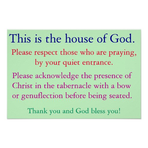 Quiet for prayer poster