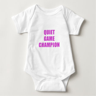 Quiet Game Champion Baby Bodysuit