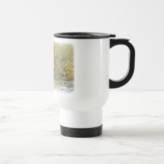 Quiet Getaway At The Creek 15 Oz Stainless Steel Travel Mug