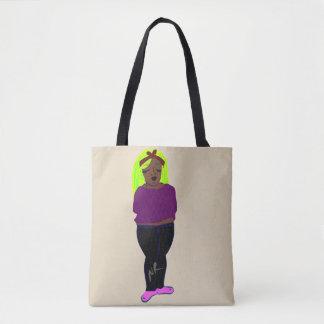 Quiet girl tote bag
