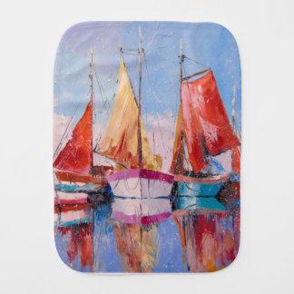 Quiet Harbor Burp Cloth