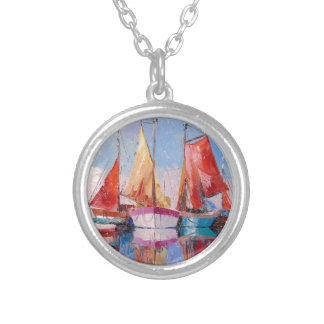 Quiet Harbor Silver Plated Necklace