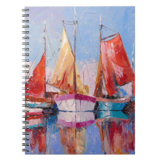 Quiet Harbor Spiral Notebook