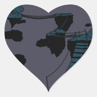 quiet heart sticker