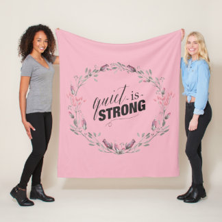 Quiet is Strong Floral Introvert Blanket