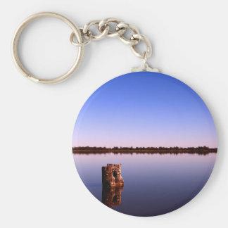 Quiet Lake Basic Round Button Keychain