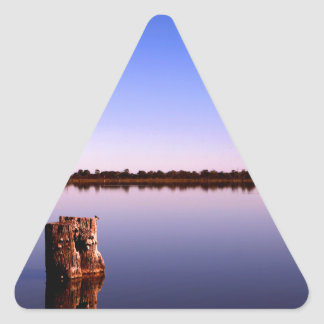 Quiet Lake Triangle Sticker