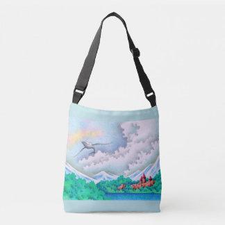 Quiet lakeside crossbody bag