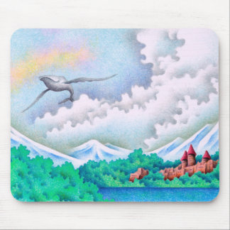 Quiet lakeside mouse pad