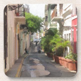 Quiet Little Street of Puerto Rico Coaster