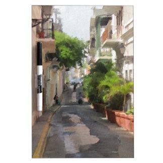 Quiet Little Street of Puerto Rico Dry Erase Whiteboard