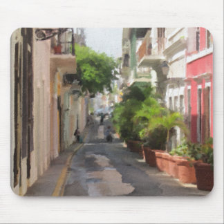 Quiet Little Street of Puerto Rico Mouse Pad