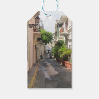 Quiet Little Street of Puerto Rico Pack Of Gift Tags