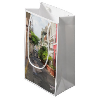 Quiet Little Street of Puerto Rico Small Gift Bag