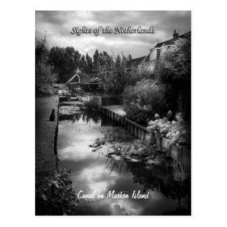 Quiet Marken Canal, Sights of the Netherlands Postcard