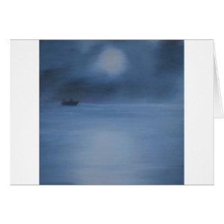 quiet ocean night alone card