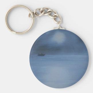 quiet ocean night alone keychain