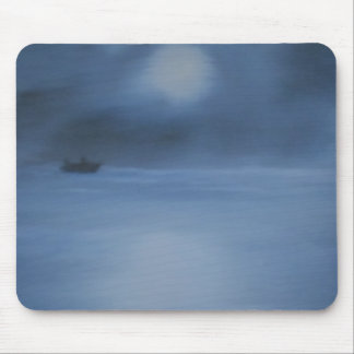 quiet ocean night alone mouse pad