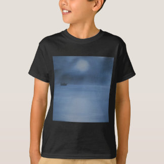 quiet ocean night alone T-Shirt