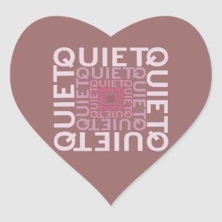 Quiet Pink Word Cloud Heart Sticker